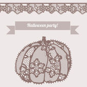 Lacy pumpkin. — Stock Vector