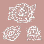 Lacy roses . — Stock Vector