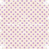 Vintage polka dots rumpled. — Vettoriale Stock