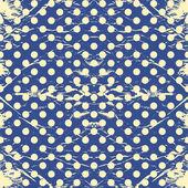 Vintage polka dots rumpled. — Stockvektor