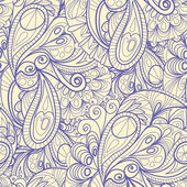 Hand-Drawn Abstract Seamless Pattern. — Stock Vector