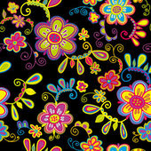 Seamless pattern with flowers — ストックベクタ