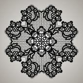 Flor de encaje simétrico. — Vector de stock