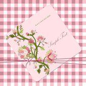 Vintage flower card — Cтоковый вектор