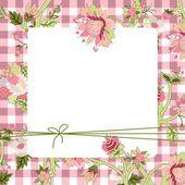 Vintage flower kort — Stockvektor