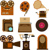 Vintage gadgets — Stock Vector