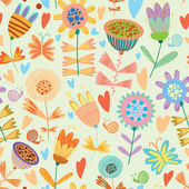 Floral cute seamless pattern. — Stock Vector