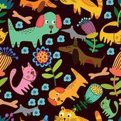 Cartoon seamless pattern for childish designs. — Stock Vector
