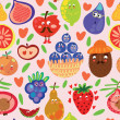 Fruits seamless pattern for your design — Stock Vector #48529399