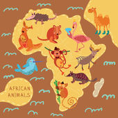 African animals set — 图库矢量图片