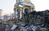 Barricade on Euromaidan — Stock Photo
