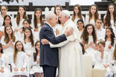 Pope Francis Papa Francisco and shimon peres — Stock Photo