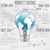 Brainstorm concepto creativo plantilla — Vector de stock
