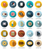 Set of flat business concept and icons. — Stock Vector