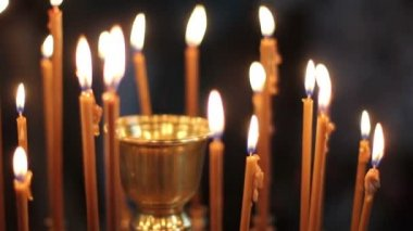 Candles in the church - 1080p — Stock Video