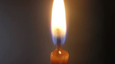 Orange burning candle HD 1080 — Wideo stockowe