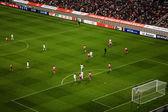 Sangam football Stadium during the game — Stock Photo