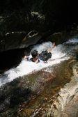 People swim at Surak falls — Stock Photo