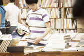 People at the bookstore — Stock Photo