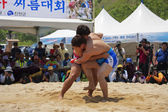 Nongdari  wrestling traditional festival — Stock Photo