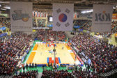 Sports basketball arena during the game — Photo