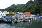 Boats on a  beautiful Island in South Korea, Ulleungdo — Foto Stock