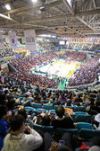 Sports basketball arena during the game — Stock Photo