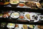 Restaurant shelves — Stock Photo