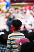 Cheering crowd — Stock Photo