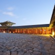 Night view of Gyeongbokgung  Palace in South Korea — Stock Photo #47025733