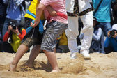 Nongdari  wrestling traditional festival — Stock Photo