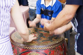Children engaged in creative work at  Pottery Festival — Stock Photo