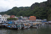 Boats on a  beautiful Island in South Korea, Ulleungdo — Foto de Stock