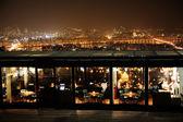 Noc piękny widok w korei południowej, wieża namsan, restauracja — Zdjęcie stockowe