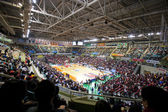 Sport basket arena under spelet — Stockfoto