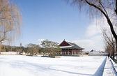 Gyeongbokgung Palace in winter — Stock Photo