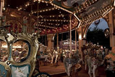 Carousel in amusement park — Stock Photo