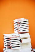 Many books and magazines in the bookstore — Stock Photo