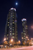Beautiful night view of buildings — Stock Photo