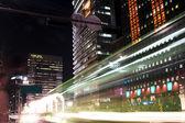 Night car traffic in Seoul — Stock Photo