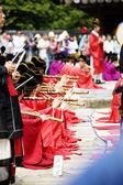 People at Traditional festival Jongmyo  Rituals Jongmyojerye — Stock Photo