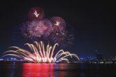 Festival internazionale di fuochi d'artificio sul fiume han — Foto Stock