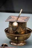 Relic spoon and cup — Stock Photo