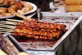 Yakitori pouliční jídlo — Stock fotografie