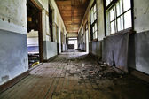 Destroyed school building interior — Stock Photo