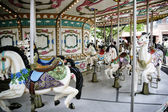 Amusement park carousel — Stockfoto