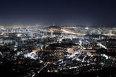 Beautiful night view of Seoul — Stockfoto
