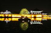 Night view  Gyeongju Anapji — Stock Photo