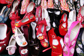 Shoes on the market at China town — Stock Photo