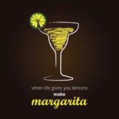 Margarita Cocktail — Stock Vector
